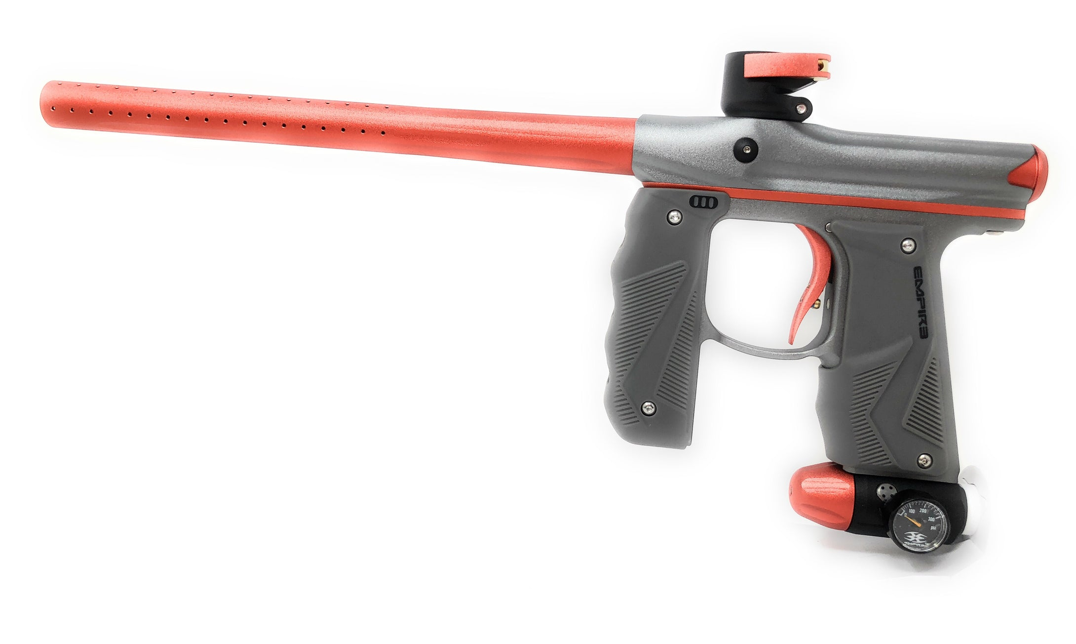 Photos of Empire Mini GS Paintball Marker - Grey/Orange. Photo taken by drpaintball.com