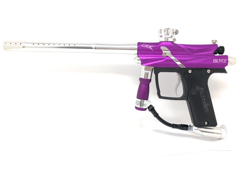 Photos of Azodin Blitz 3 Paintball Marker - Purple/Silver. Photo taken by drpaintball.com