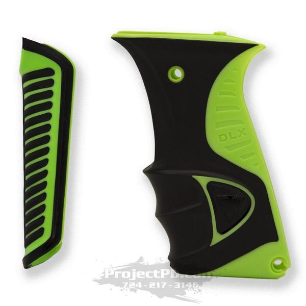 Photos of DLX Luxe Ice Rubber Grip Kit - Green. Photo taken by drpaintball.com