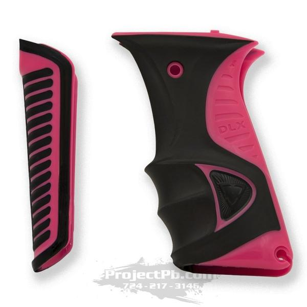 Photos of DLX Luxe Ice Rubber Grip Kit - Pink. Photo taken by drpaintball.com