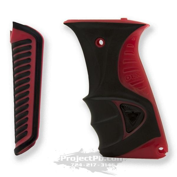 Photos of DLX Luxe Ice Rubber Grip Kit - Red. Photo taken by drpaintball.com