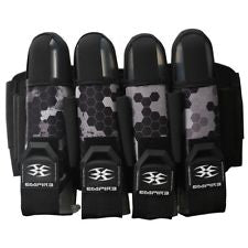 Photos of Empire Action Pack Harness - 4+7 - Hex Black. Photo taken by drpaintball.com