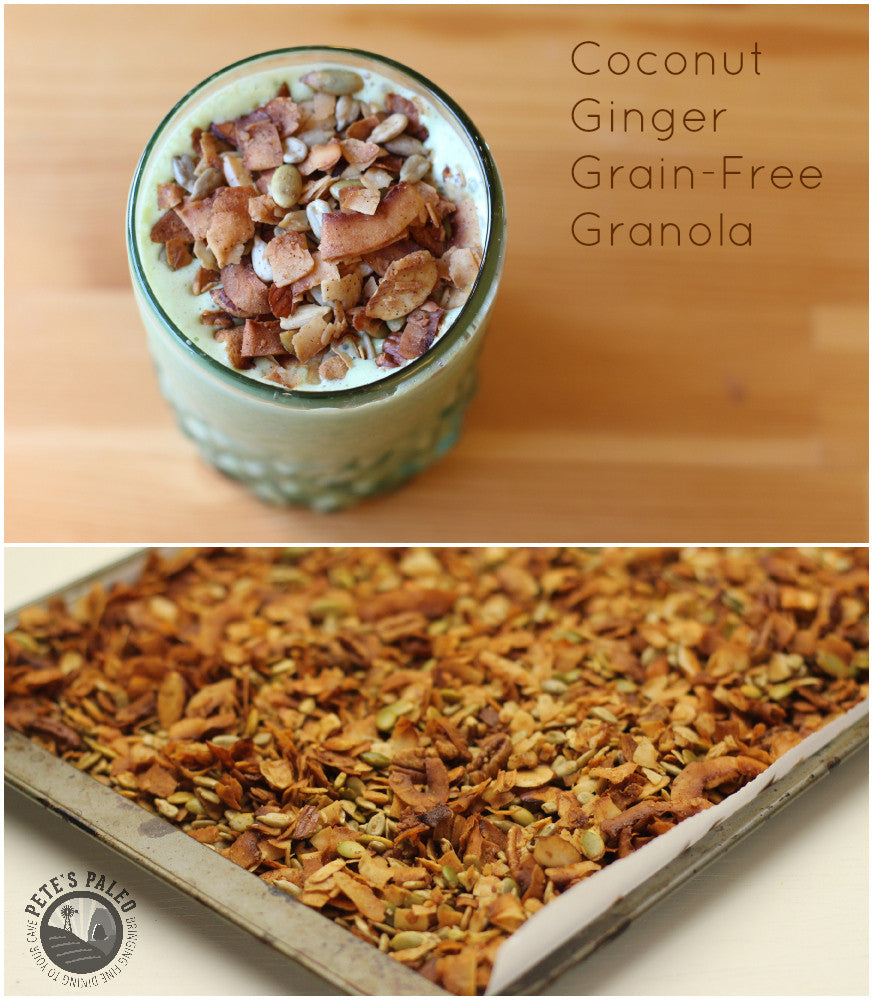 Coconut Ginger Grain-Free Granola