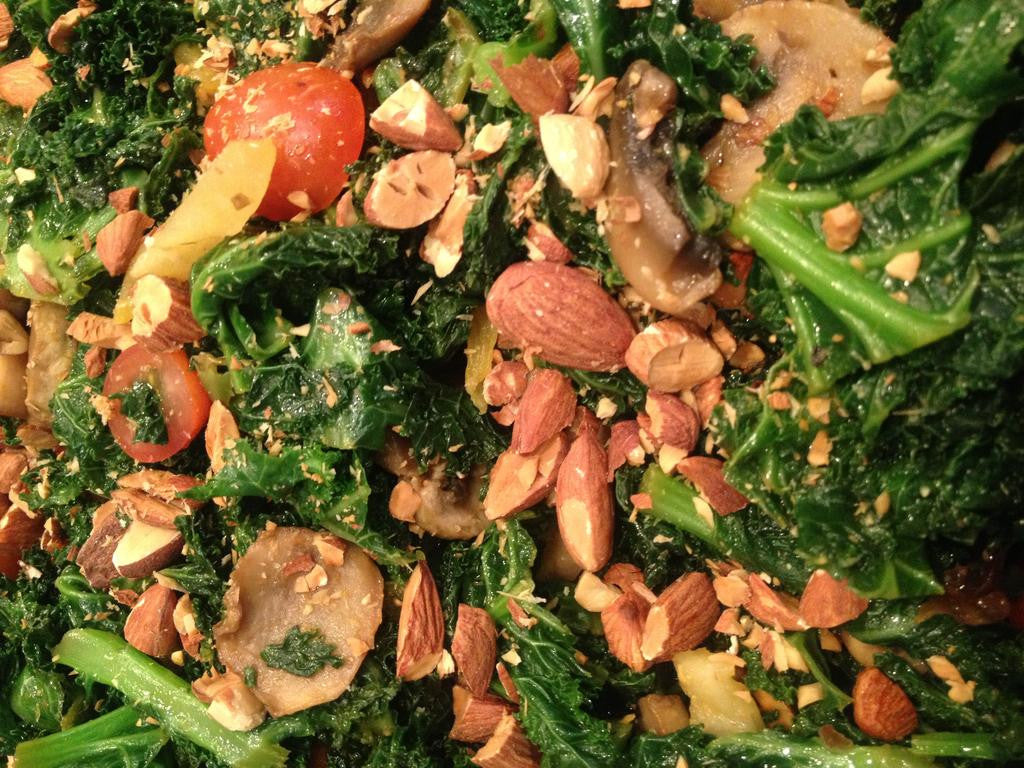 Kale, Pear and Almond Salad
