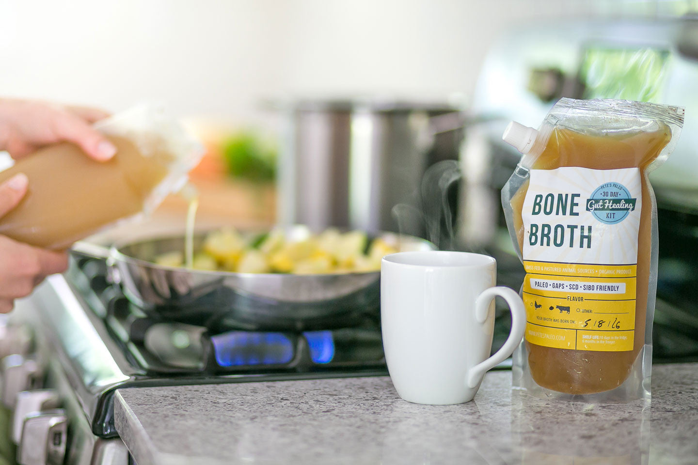 Add 24oz Chicken Bone Broth to Meal Order