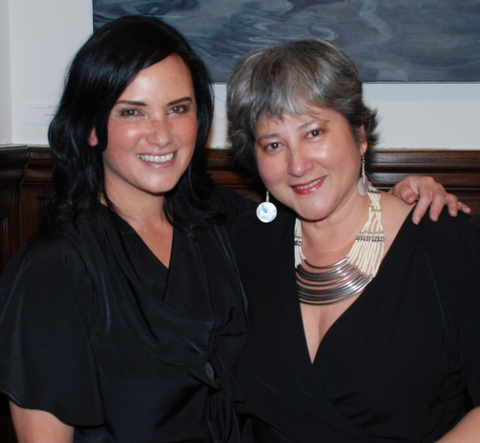 Vikki Treadell BHCNZ and I at my launch 2012