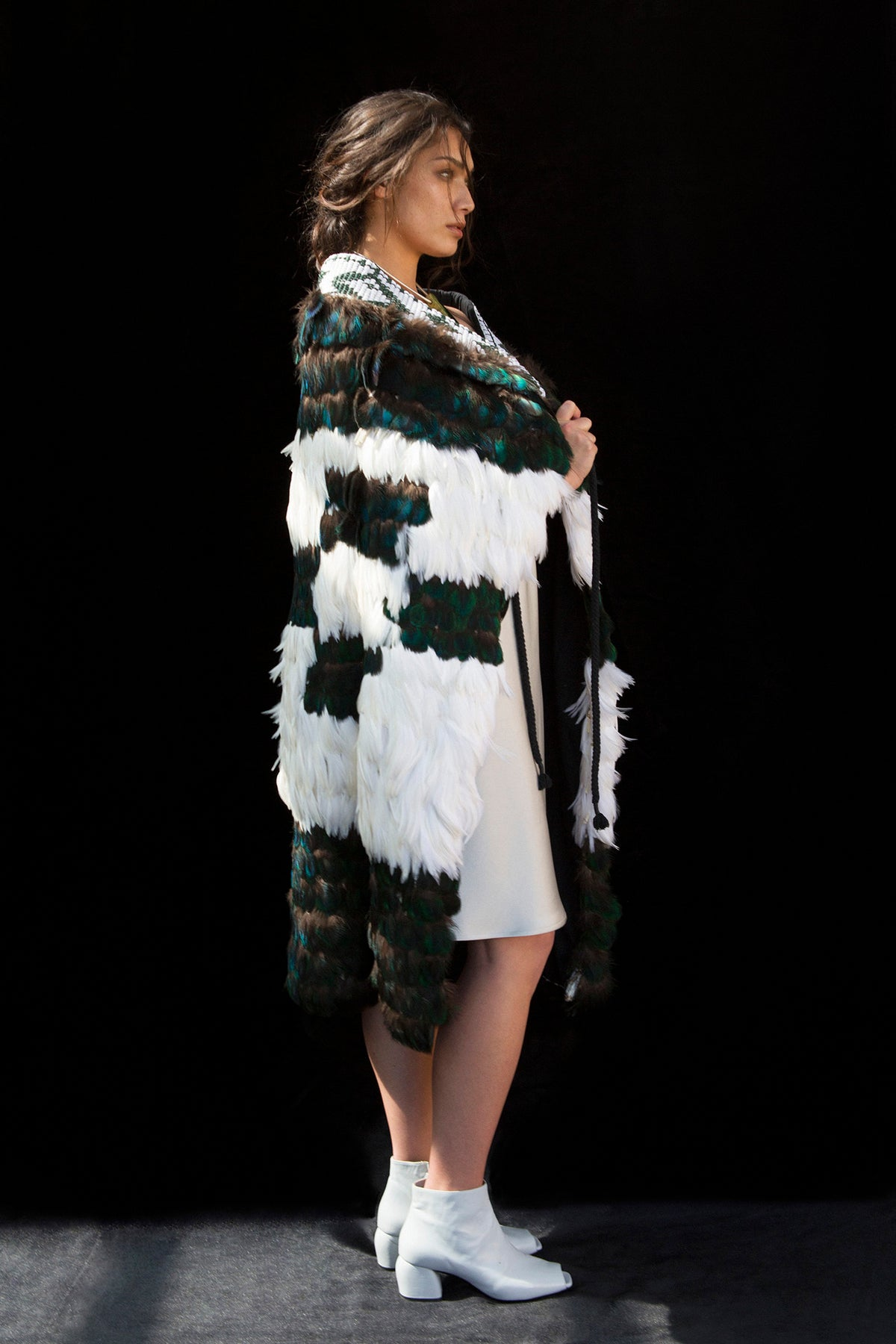 Contemporary Kākahu full length full feather