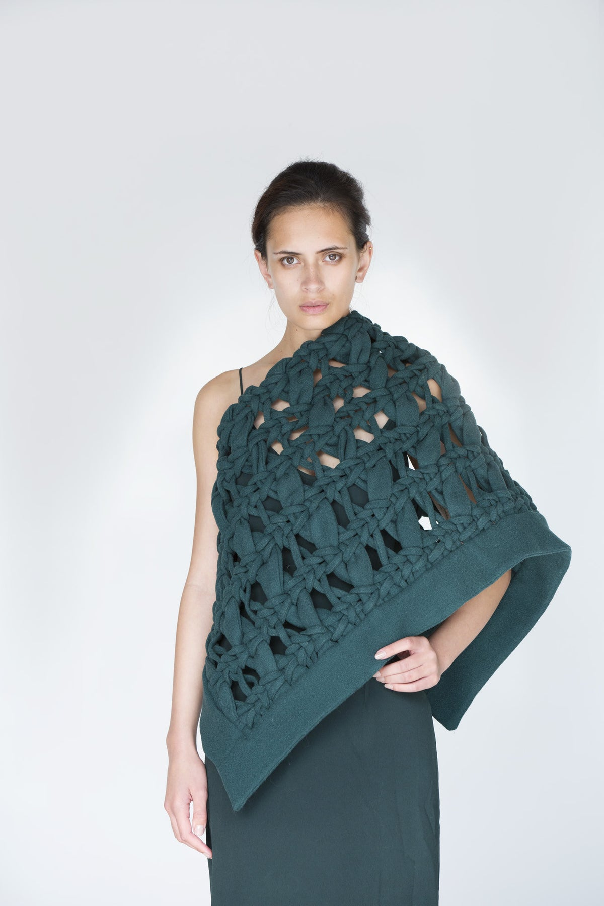 Contemporary Handwoven 100% Wool Cloak or Art Piece
