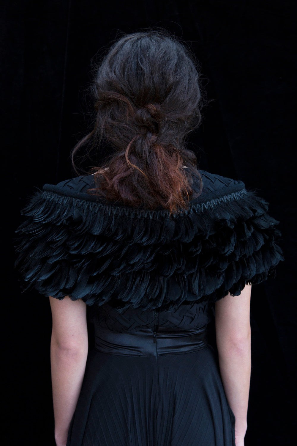 Handwoven Feather Shrug