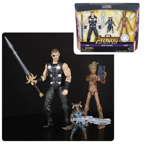 Marvel Legends - Avengers: Infinity War - Thor, Rocket Raccoon, and Groot - Toys R Us Exclusive