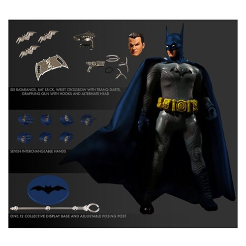 Mezco - One:12 Collective Action Figures - Batman: Ascending Knight Blue Version Previews Exclusive