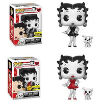 Funko - Betty Boop Black & White With Pudgy CHASE COMBO - Entertainment Earth Exclusive
