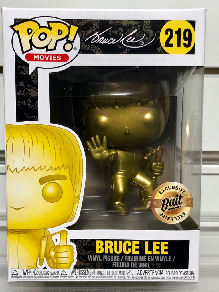 Funko Pop! - SDCC 2018 Bait Exclusive - Bruce Lee #219 (Gold Chrome)
