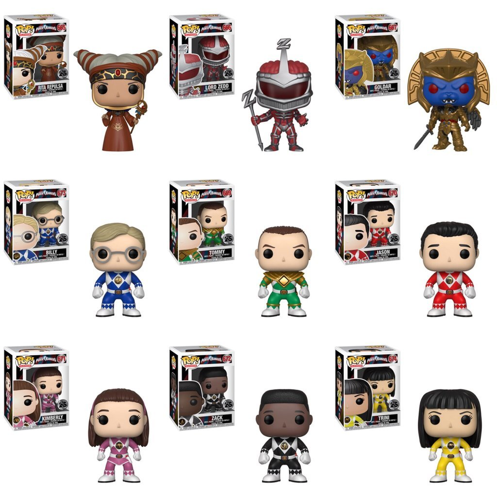 Funko Pop! - Power Rangers Set (9 Pops)