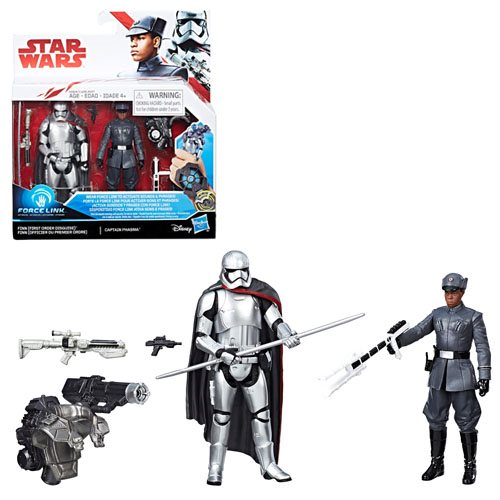 Star Wars - Force Link The Last Jedi - Finn (First Order Disguise) vs. Captain Phasma Exclusive