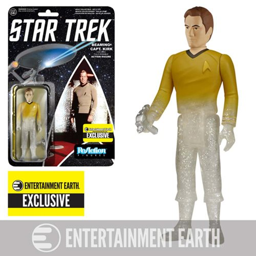 Funko - Star Trek - Beaming Captain Kirk ReAction Figure - EE Exclusive (Unpunched)