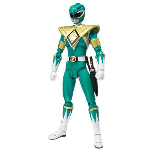 Bandai - Mighty Morphin Power Rangers Green Ranger SH Figuarts Action Figure - SDCC 2018 Exclusive