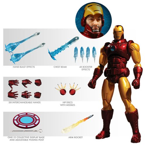 Mezco - One:12 Collective Action Figures - Iron Man