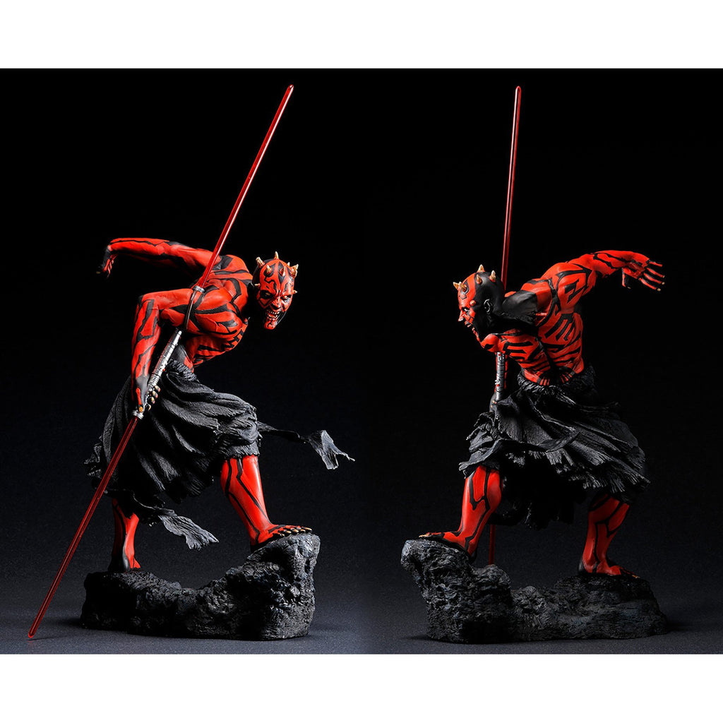 PREORDER - Star Wars - Kotobukiya - Darth Maul Ukiyo-E ARTFX Light-Up Statue - ReRun