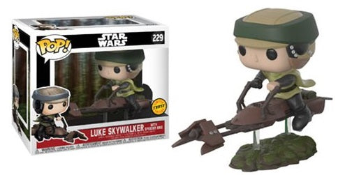 Funko Pop! - Star Wars Deluxe - Luke on Speeder Bike CHASE #229