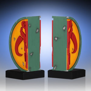 Gentle Giant Star Wars Mandalorian Symbol Boba Fett Bookends