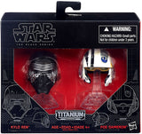 Star Wars - Black Series Titanium Helmets - Box 1 - Kylo Ren & Poe Dameron