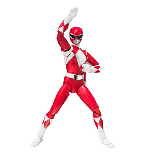 Bandai - Mighty Morphin Power Rangers Red Ranger SH Figuarts Action Figure - SDCC 2018 Exclusive
