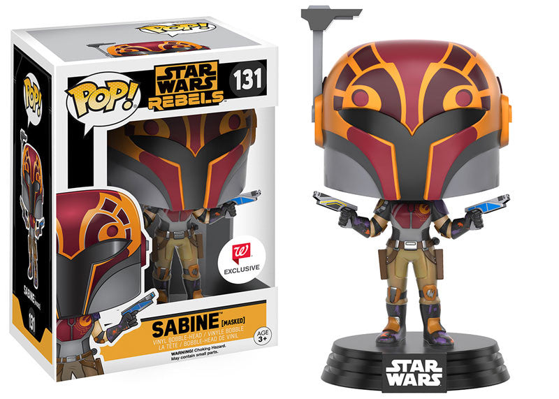 Funko Pop! - Star Wars - Rebels Sabine (Masked) #131 Walgreen's Exclusive