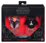 Star Wars - Black Series Titanium Helmets - Box 8 - Sabine Wren & Darth Vader