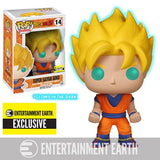 Funko Pop! - Dragon Ball Z - GITD Super Saiyan Goku Pop! Vinyl Figure #14 EE Exclusive