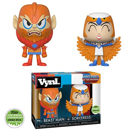 Funko VYNL - Masters of the Universe - Sorceress & Beast Man 2-Pack - 2018 Convention Exclusive
