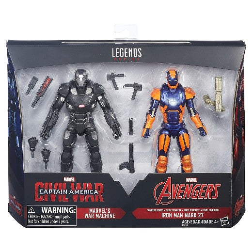 Marvel Legends - Captain America Civil War & Avengers - War Machine &  Iron Man Mark 27 - 2 PACK