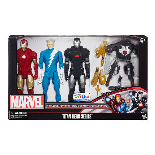 Marvel Titan Series 3 Pack TRU Exclusive Iron Man, Quicksilver & War Machine