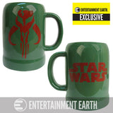 Star Wars - Boba Fett Mandalorian Symbol 20 oz. Ceramic Stein - Entertainment Earth Exclusive