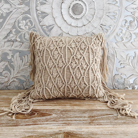 The All Or Nothing Fringe Throw Pillow