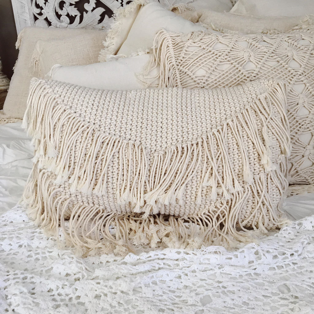 The Bohemian Fringe Throw Pillow