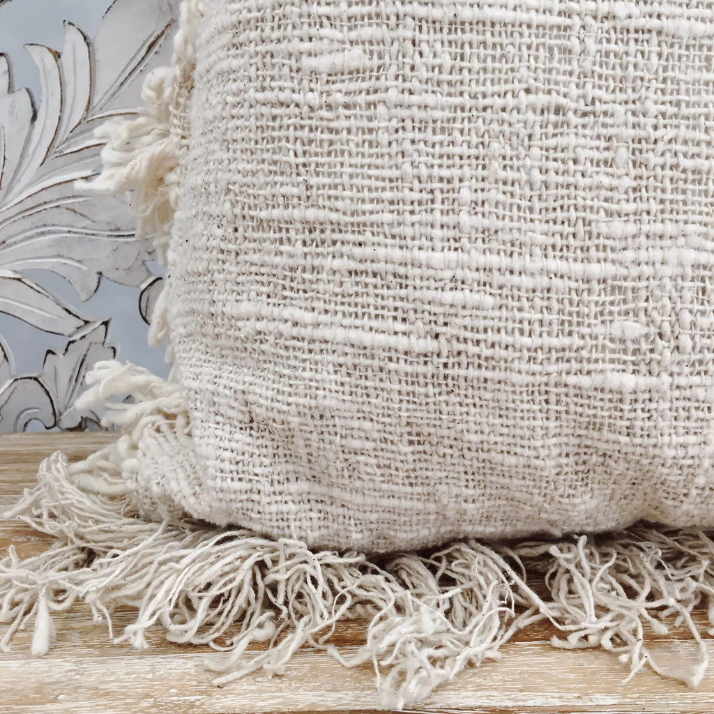 The Holiday Natural Fibre Throw Pillow