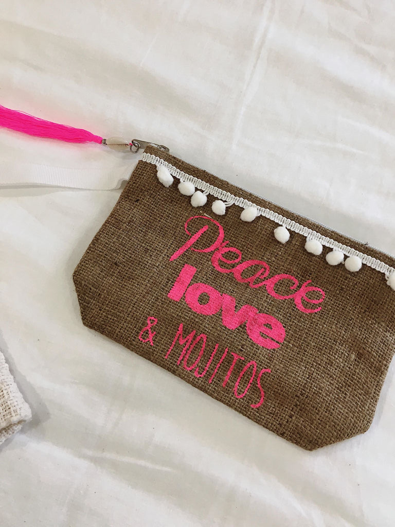 Peace, Love & Mojitos Clutch