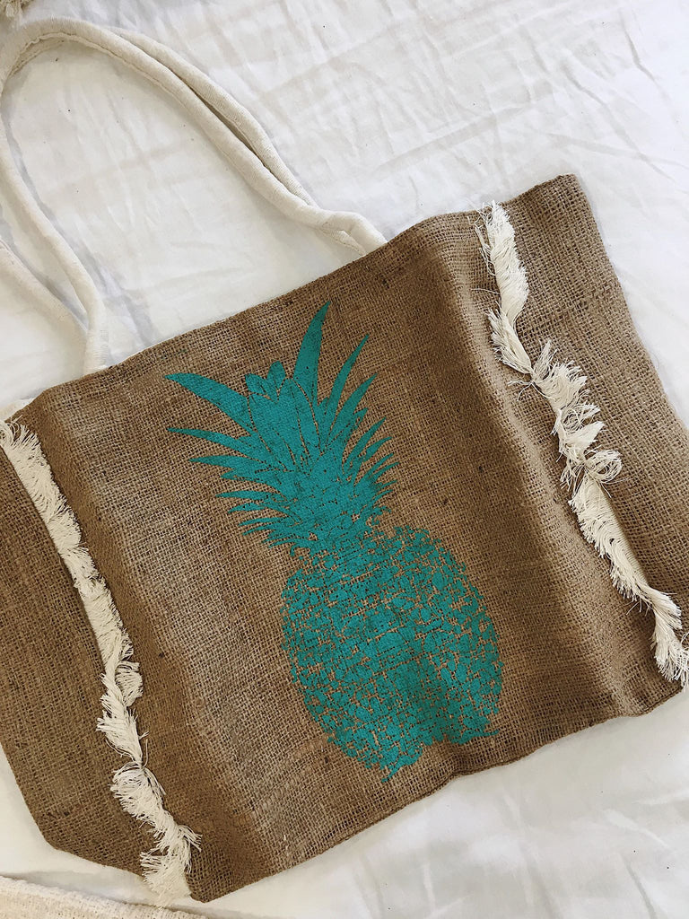 Pineapple Frill Tote Bag