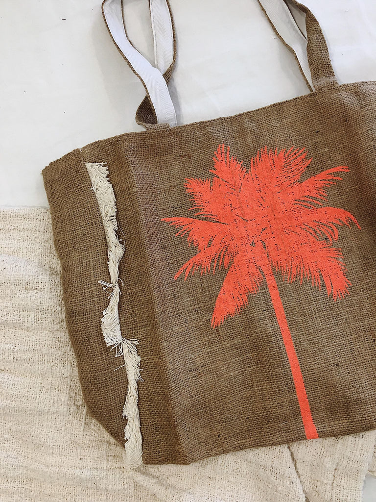 Palm Tree Frill Tote Bag