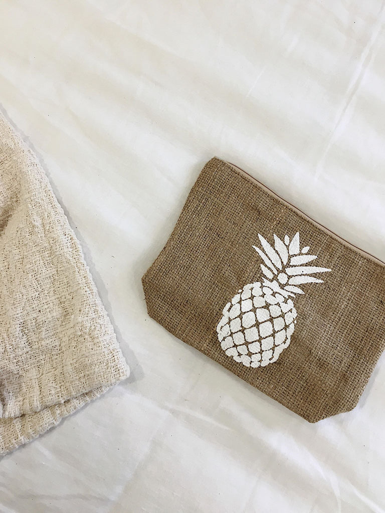Hessian Pineapple Clutch