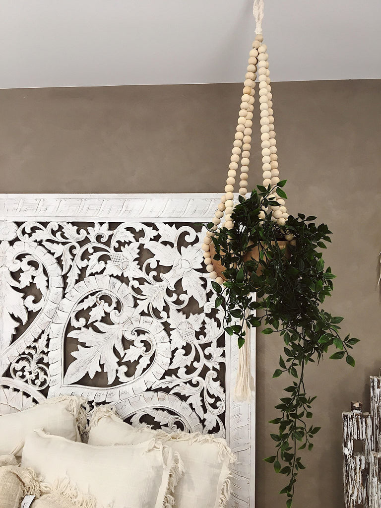 Timber Beaded Plant Hanger