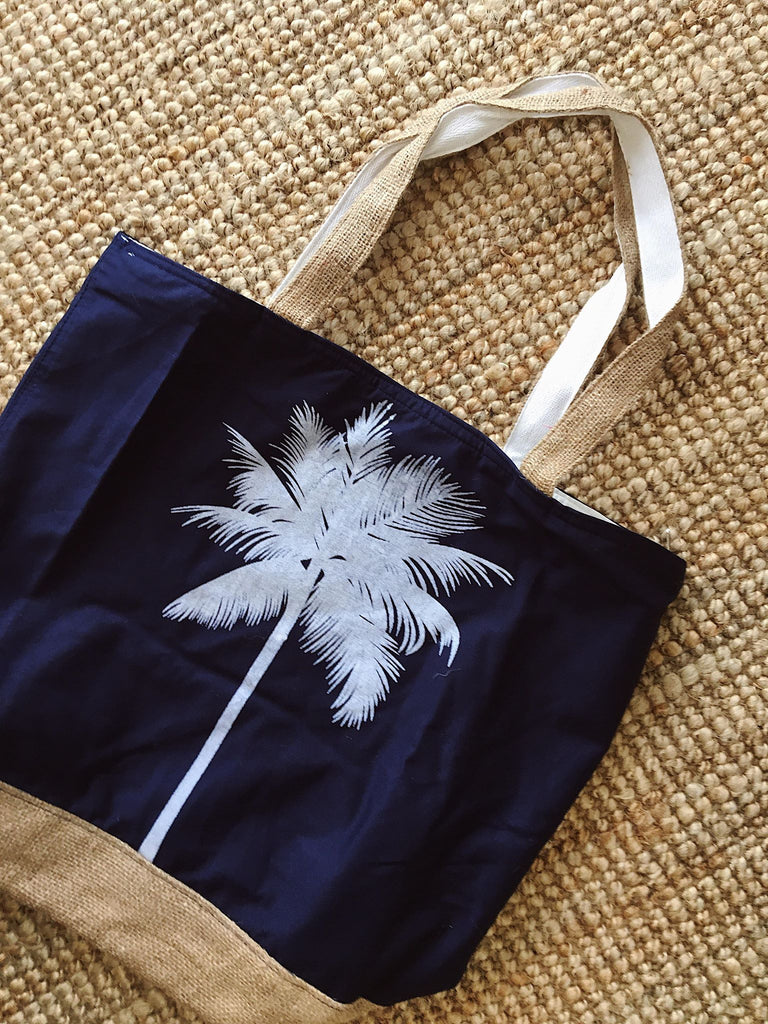 Palm Tree Canvas Tote Bag
