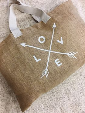 Love Hessian Bag