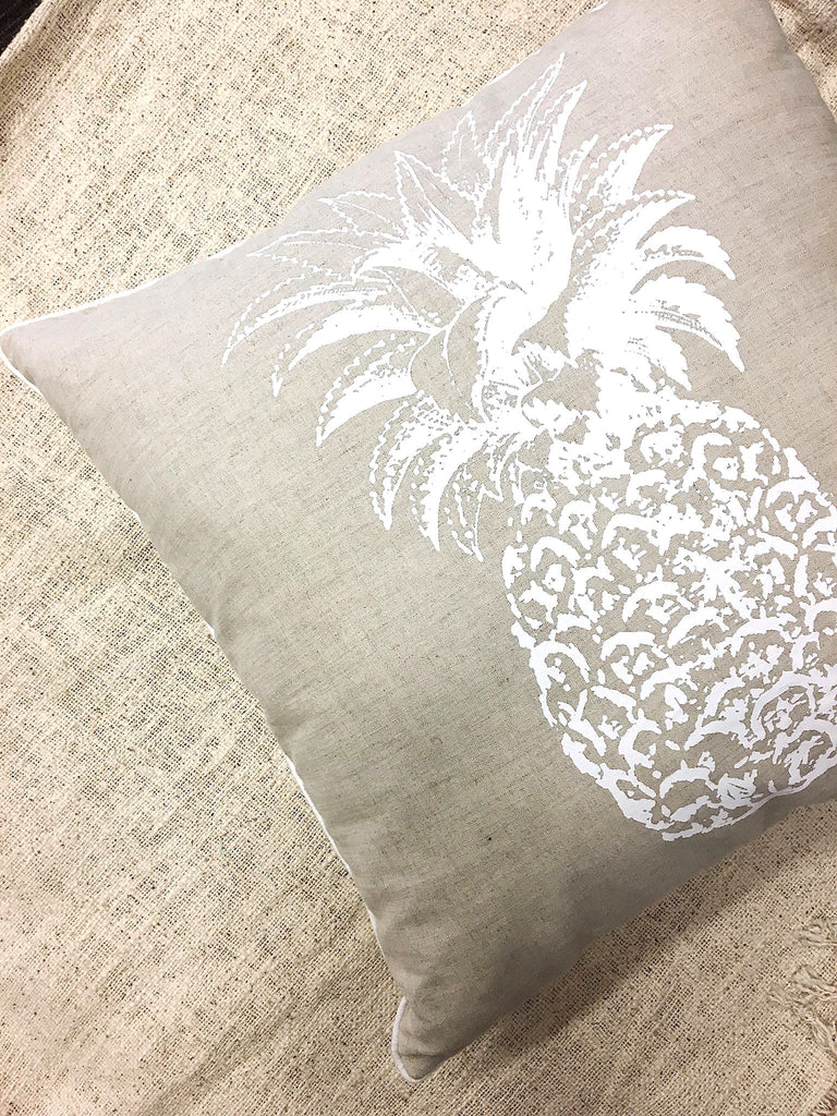 Natural Pineapple Throw Pillow