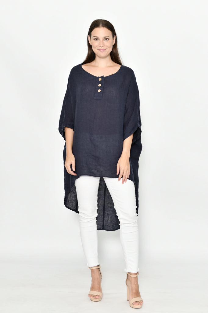 Edith Hi Lo Linen Top