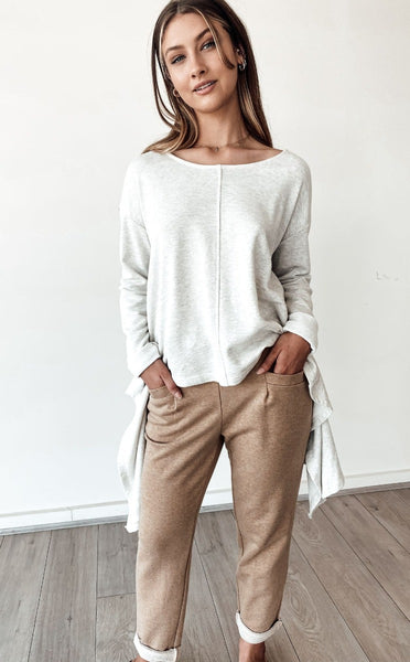 Drop Side Sweater