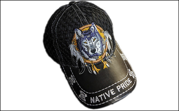 Native wolf Baseball Cap