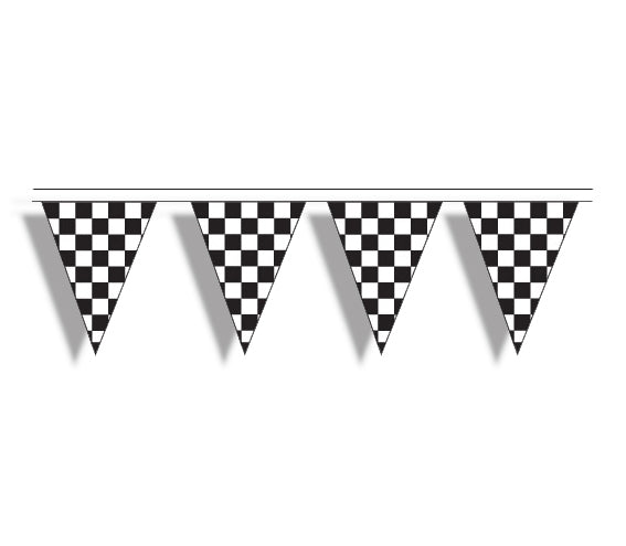 Checkered 100' Pennant String