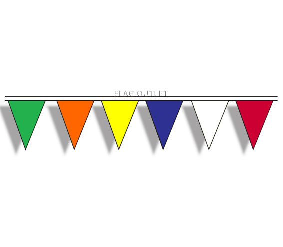 Multi Colored 100' Pennant String